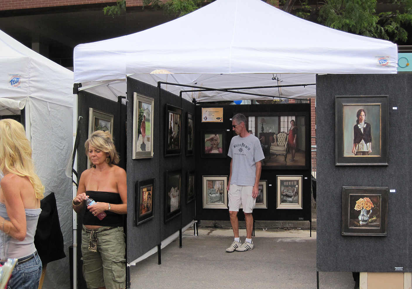 Bradford J. Salamon's booth at CCAF