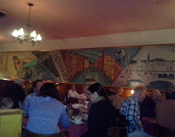 Mural in Patsy's dining room