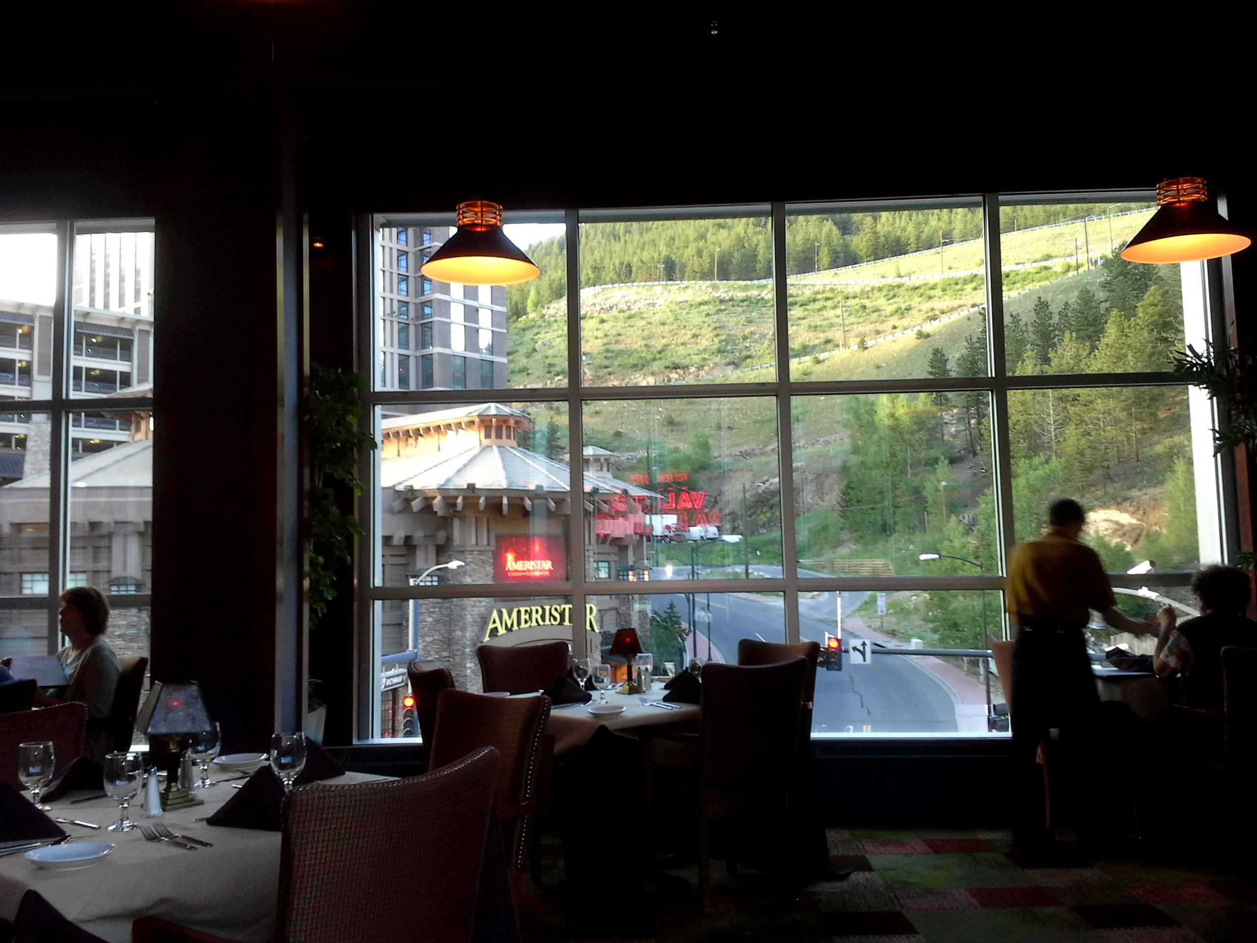 White Buffalo Grille overlooking The Ameristar Casino Hotel
